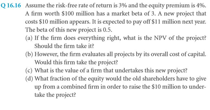 The Weighted Average Cost of Capital (WACC) 45