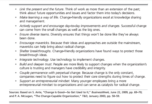 Issues in Managing Changes 10